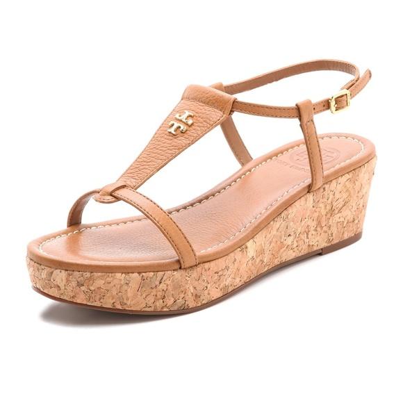 eb5e1e447635 Tory Burch Britton Wedge Sandals. M 5bba3c721b32947b7c6013dd